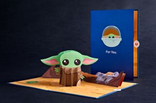 The Child Pop-Up Card To celebrate the adorable addition to Star Wars, Lovepop is launching a 3D pop-up card featuring the most prized bounty in the galaxy. The card will be available for purchase on lovepop.com and Amazon as well as at Lovepop retail locations around the country at the end of the month.