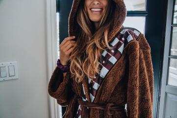 Star Wars Chewbacca Hooded Bathrobe for Adults | One Size Fits Most