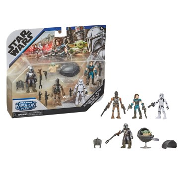 STAR WARS MISSION FLEET DEFEND THE CHILD Figure and Vehicle Pack - inpck & oop
