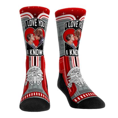 Han And Leia Kiss Socks SRP: $18 Available: Now Link: https://rockemsocks.com/collections/star-wars/products/han-leia-kiss