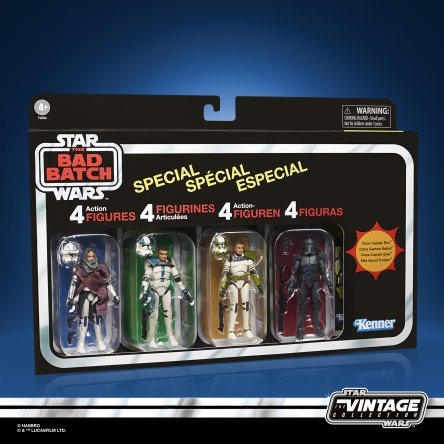 STAR WARS THE VINTAGE COLLECTION STAR WARS THE BAD BATCH Figure 4-Pack - in pck (4)