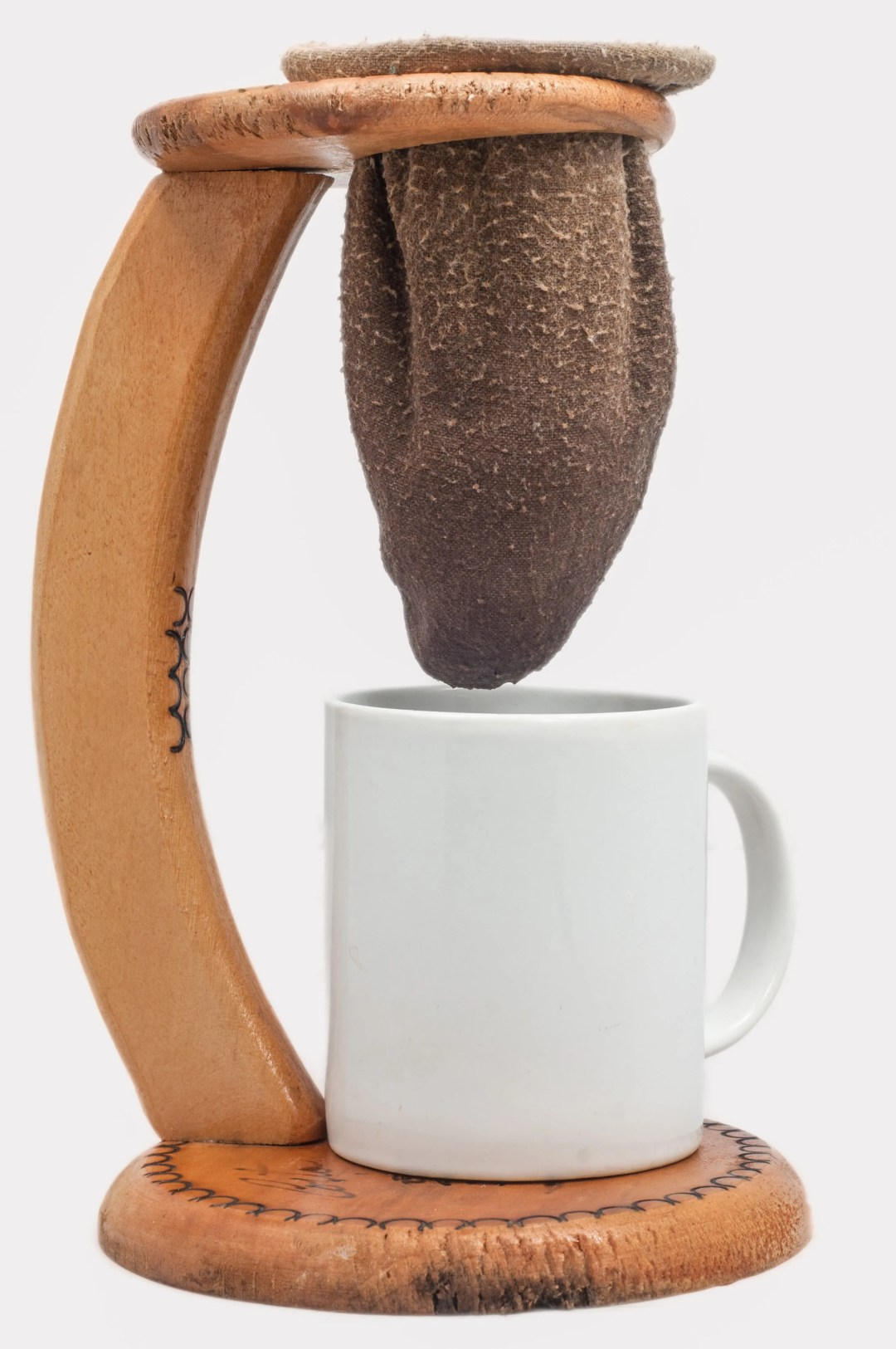 coffee brewing with sock