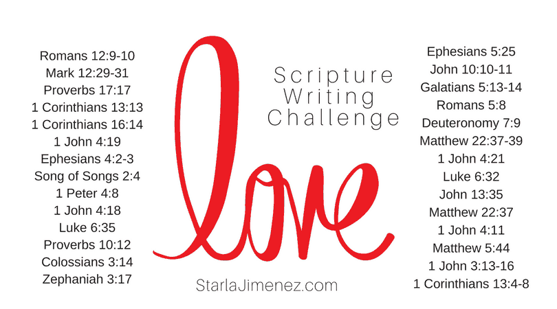 Bible Verses on Love: Scripture Writing Challenge
