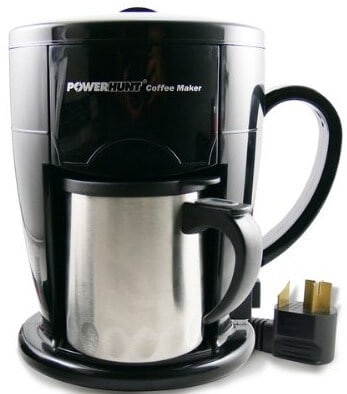 Power Hunt High Performance 12 Volt Personal Coffee Maker – Brews in 3 Minutes