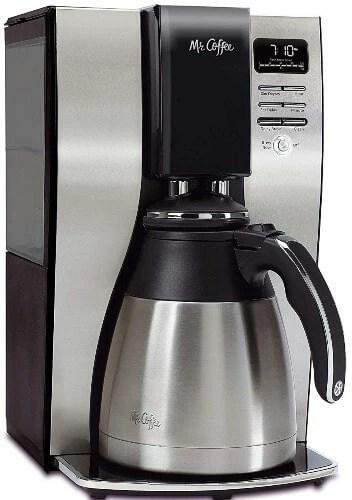 stainless steel drip coffee maker Mr. Coffee 10-Cup Coffee Maker