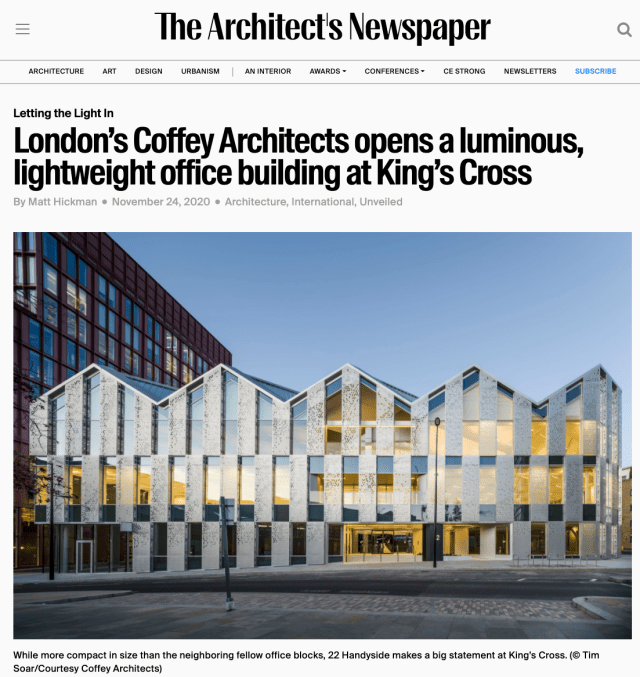 London's-Coffey-Architects-opens-a-luminous-lightweight-office-building-at-King's-Cross