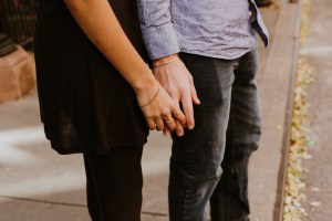 couple holding hands symbolizing common law marriage