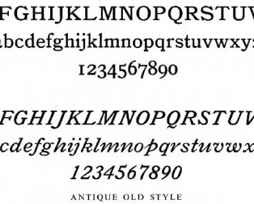 Bookman Old Style Font