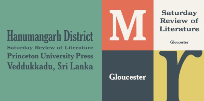 Gloucester Extra Condensed Font