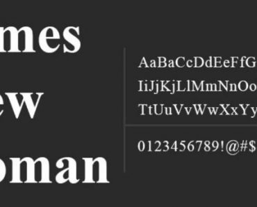 Times New font
