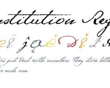 1791 Consititution Font 370x297