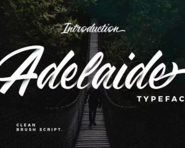 adelaide font 370x297