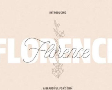 florence font 370x297