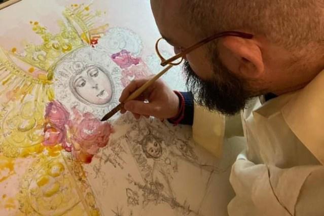 El artista Luis de la Pura realizará el cartel del X Aniversario de la Hermandad Ntra. Sra. del Rocío de Torremolino