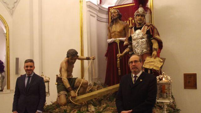 La hermandad de Zamarrilla de Málaga presenta un nuevo sayón para el grupo escultórico del Santo Suplicio