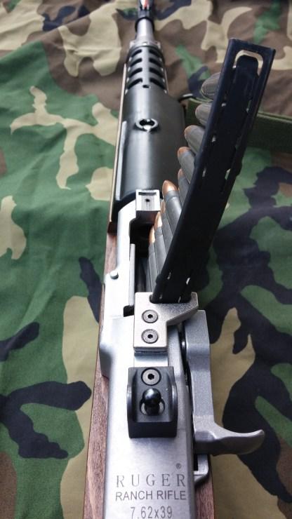 Mini-30 top mounted stripper clip guide