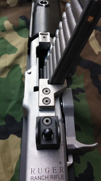 Mini-14 top mounted stripper clip guide