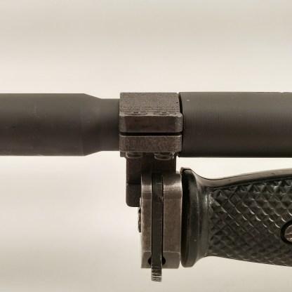 Clamp on M7 or M9 bayonet lug on M4 profile 16 inch barrel AR-15