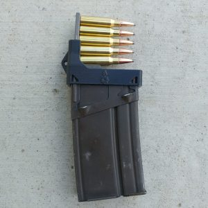 black CETME G3 magazine clip loader