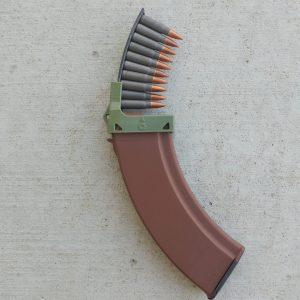 OD green 7.62x39 ak47 magazine clip loader