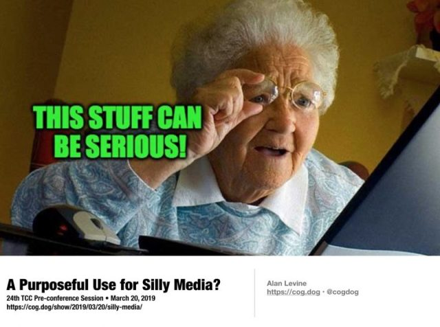 """A meme image of """"Grandma discovers the internet"""" with text """"This can be serious"""""""
