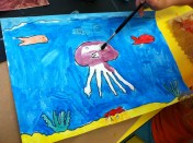 Sophia paints her Crazy Critter