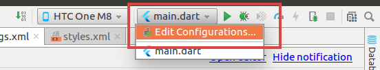 Select Edit Configurations