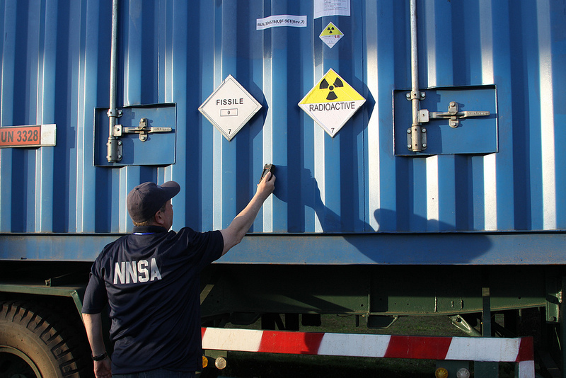 A National Nuclear Security Administration employee checks a Vietnamese highly enriched uranium removal shipment in Dalat Vietnam.  Nuclear power represents a critical option for the future of Vietnam's energy mix. Source: NNSANews' flickr photostream, used under a creative commons license.