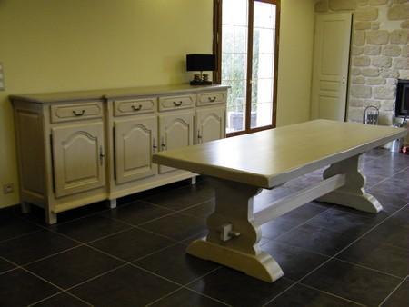 Peindre Une Table En Bois En Blanc Suprieur Table Salle A