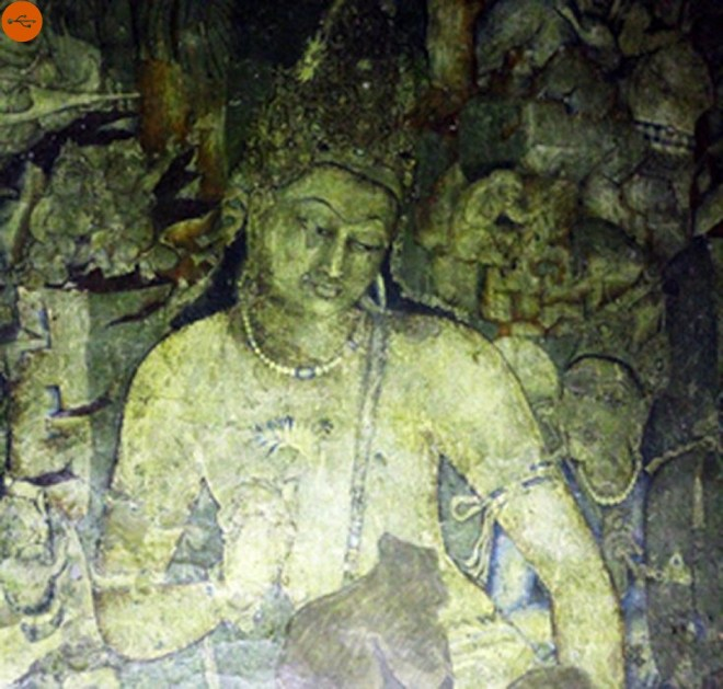 They show the stories of Jataka, that is, stories of the life of the Buddha in previous lives