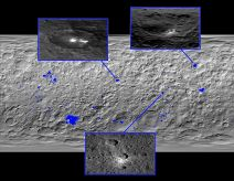 Ceres, the Dawn space probe photographs an alien structure.