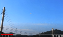 Korea, another UFO sighted similar to the sightings in Rome and Dubai, have arrived!