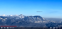 Huge Alien Ship, is recorded on Air Flight H272 from Puerto Mont to Santiago de Chile