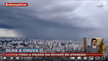 Brazil, discoid UFO spotted during live weather over Sao Paulo