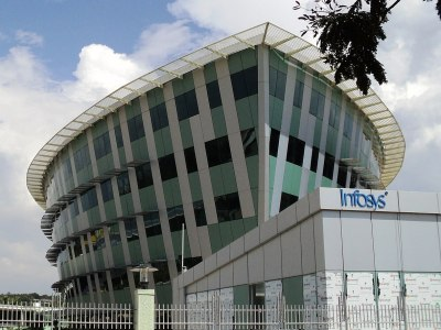 Photo: Infosys building in Thiruvananthapuram, India. (Credit: Binoyjsdk)