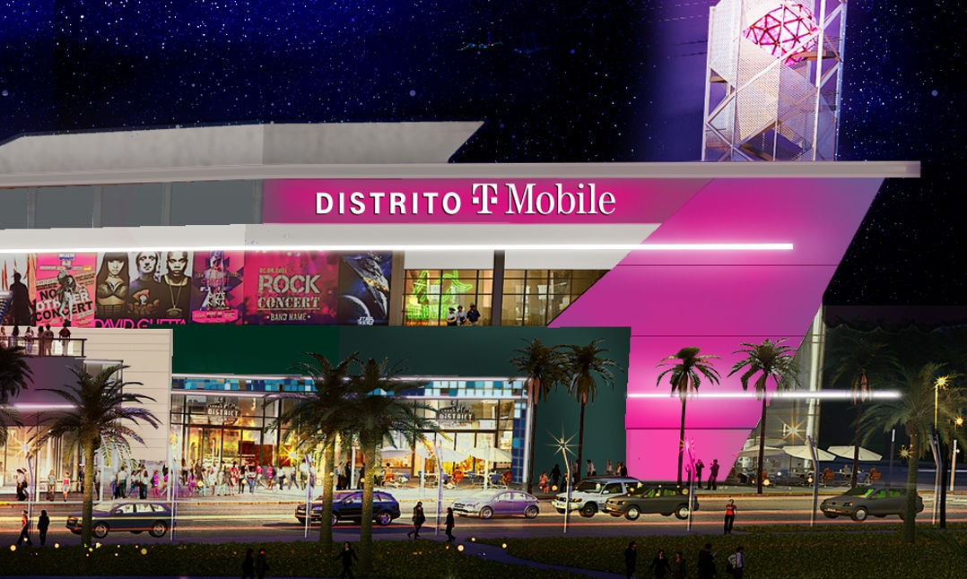 Above photo: T-Mobile secured exclusive naming rights for Distrito T‑Mobile, a massive, new entertainment complex in San Juan, Puerto Rico (image courtesy T-Mobile)