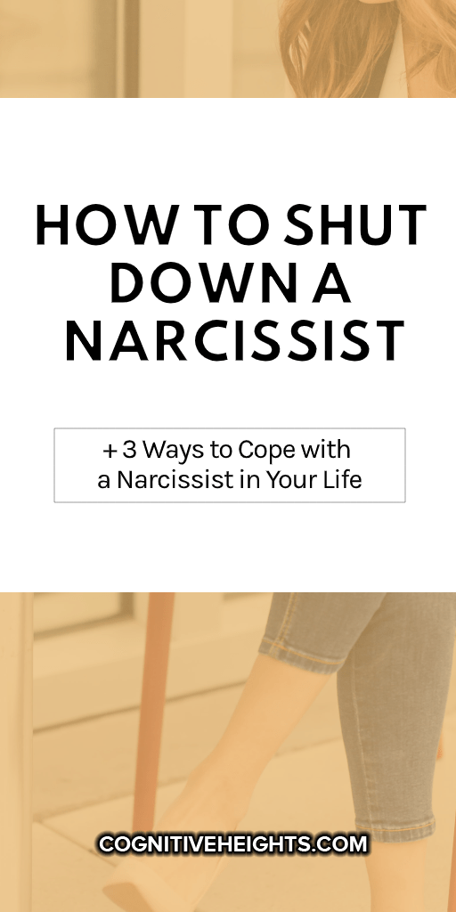 Pinterest Graphic with text: How to Shut Down a Narcissist + 3 Ways to Cope with a Narcissist in Your Life