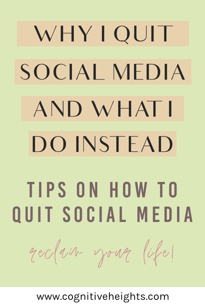 why i quit social media and what i do instead