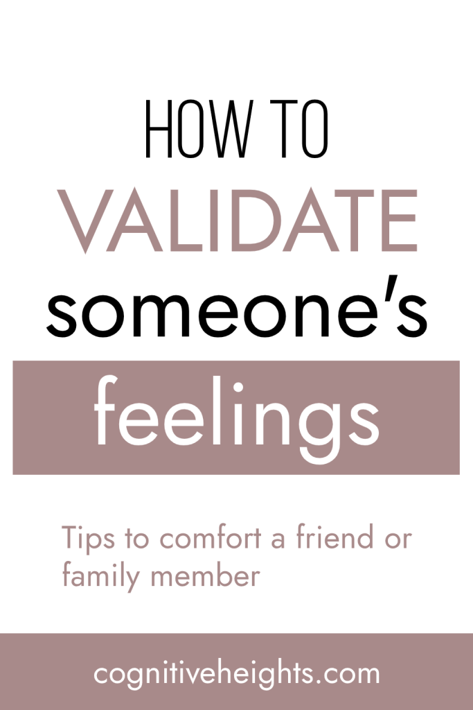 how to validate someone's feelings