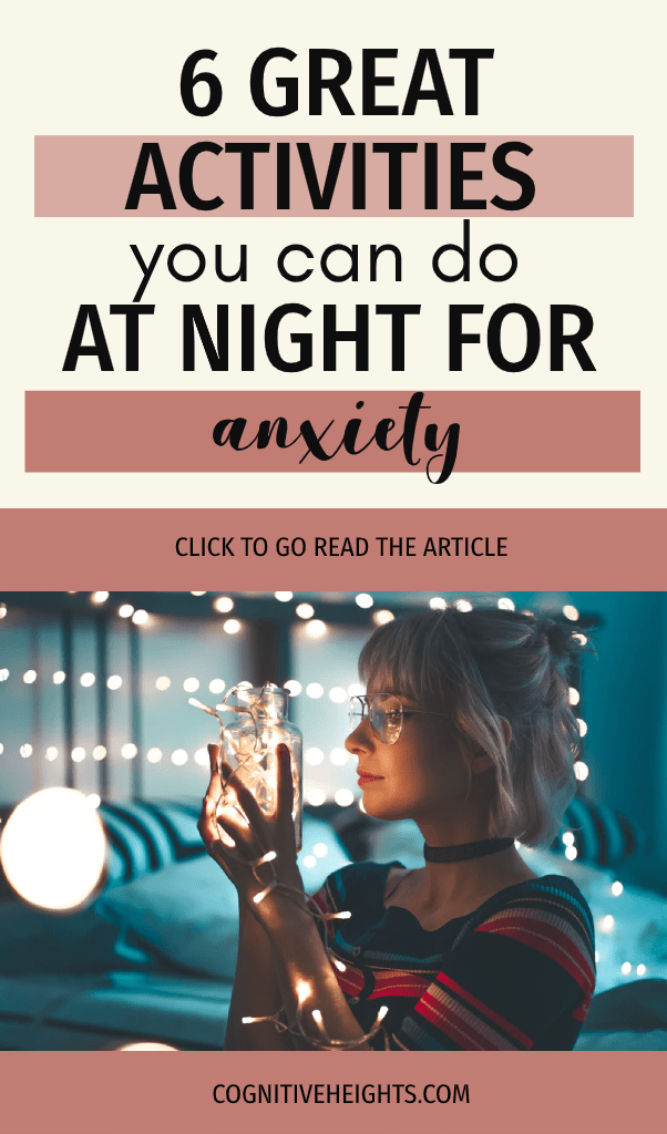 6 activities you can do at night for anxiety