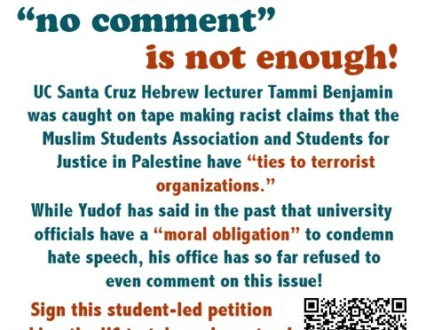 Caught On Tape: California University Lecturer Smears Student Activists As Anti-Semites With Ties To Terrorists