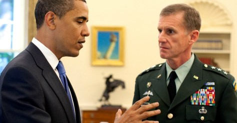 President Barack Obama meets with Army Lt. Gen. Stanley A. McChrystal, in the Oval Office at the White House, May 19, 2009. (Photo: Pete Souza/White House)