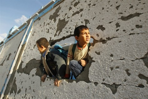 Gaza School. Photo by MSNBC