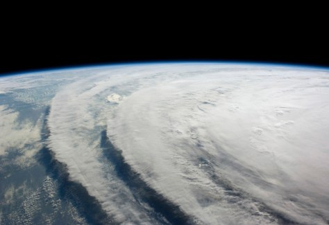 Image of Hurricane Ike on September 10, 2008, downlinked by the crew of the International Space Station, flying 220 statute miles above Earth. Ike barreled into the densely populated Texas coast near Houston early September 13, 2008, bringing with it a wall of water and ferocious winds and rain that flooded large areas along the Gulf of Mexico and paralyzed the fourth-largest U.S. city.  Photo by  REUTERS/NASA