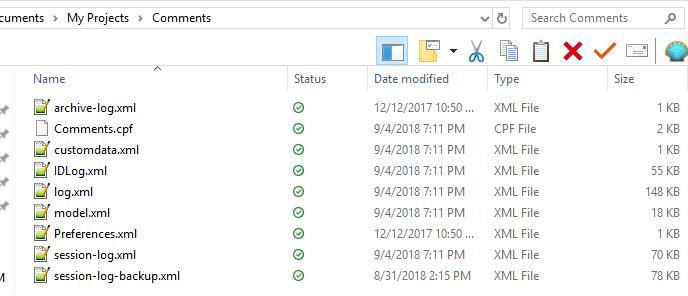 framework folder contents
