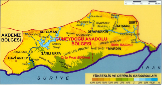 guneydogu-anadolu-bolgesi-haritası