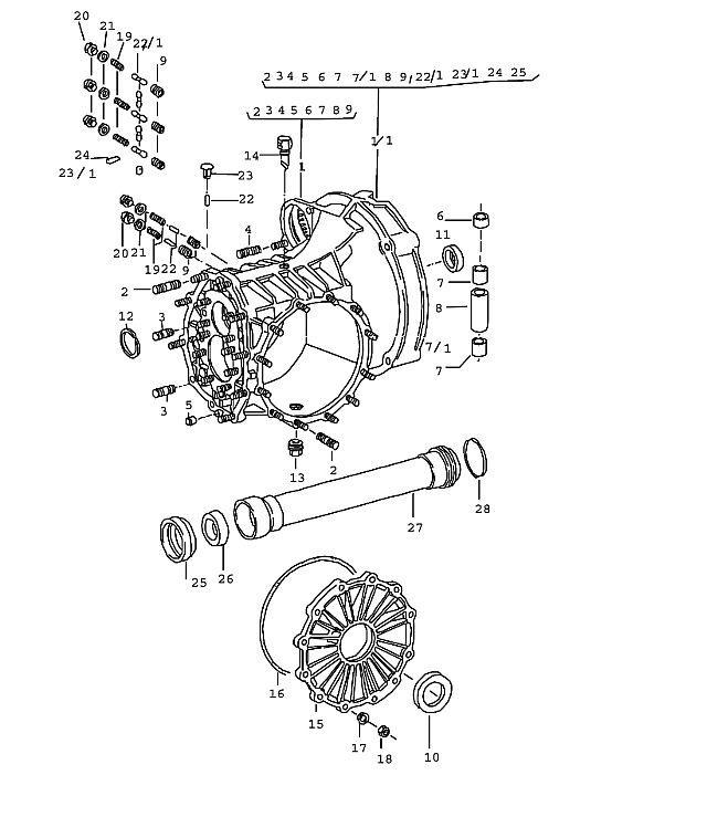 Porsche 911 (915) Manual Transmission Housing 1974-77