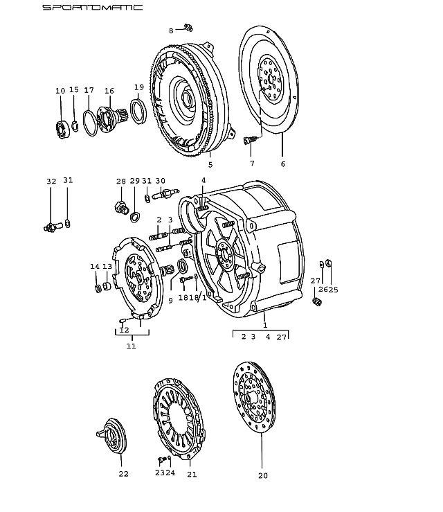 Porsche 911 (925) Transmission Torque Converter 1974-77