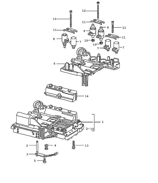 Porsche 911 (996) Transmission Switch solenoid valve 2002-05