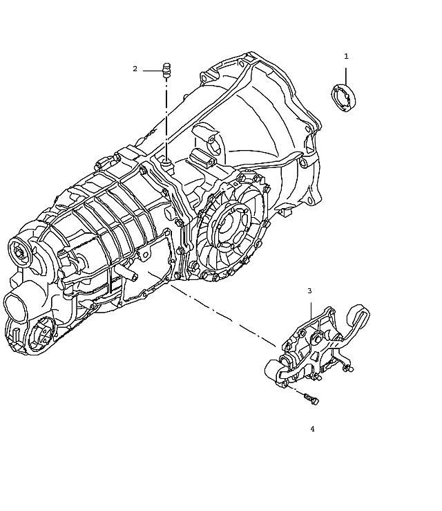 Porsche 911 Manual transmission g97.01 shift unit (302-05)